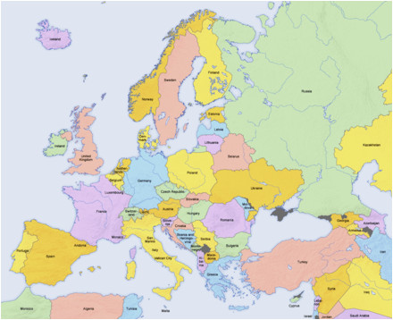 Europe Map without Country Names List Of sovereign States and Dependent Territories In Europe