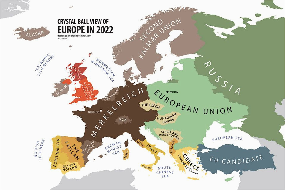Future Map Of Europe Europe According to the Future Land Of Maps Map Funny