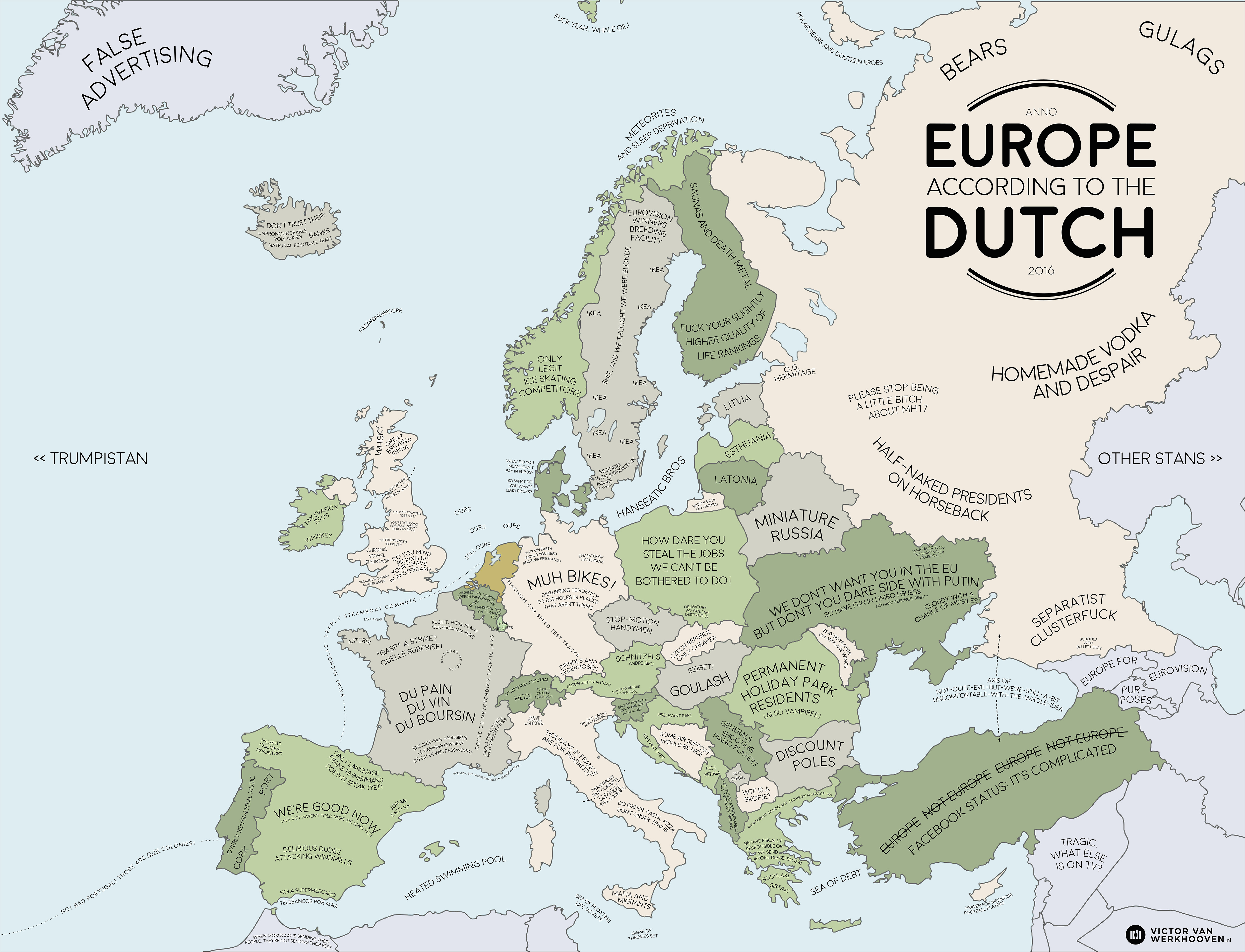 Holland In Europe Map Europe According to the Dutch Europe Map Europe Dutch