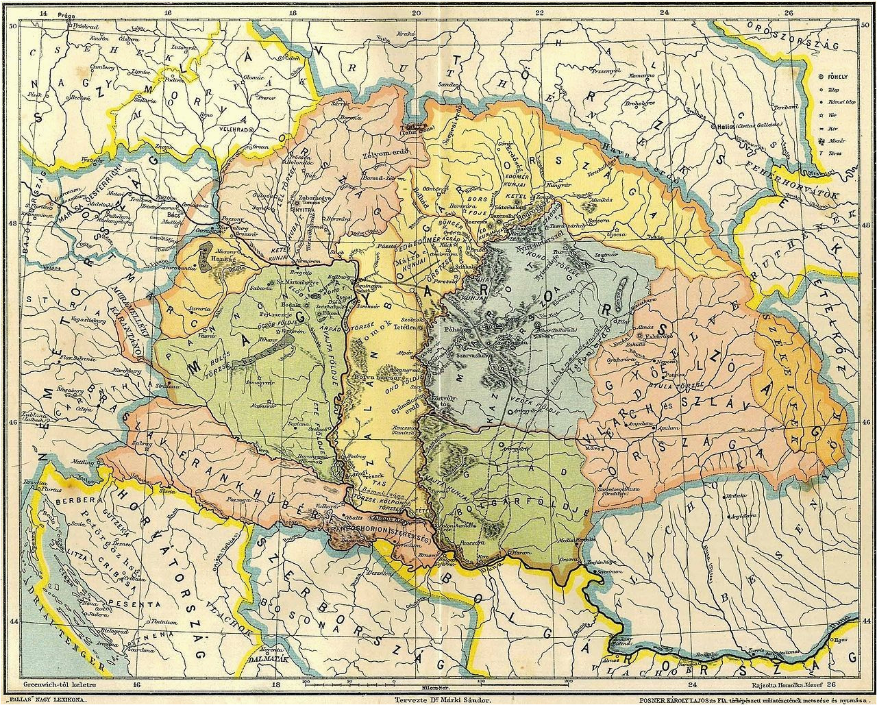 Hungary On A Map Of Europe Map Of Central Europe In the 9th Century before Arrival Of