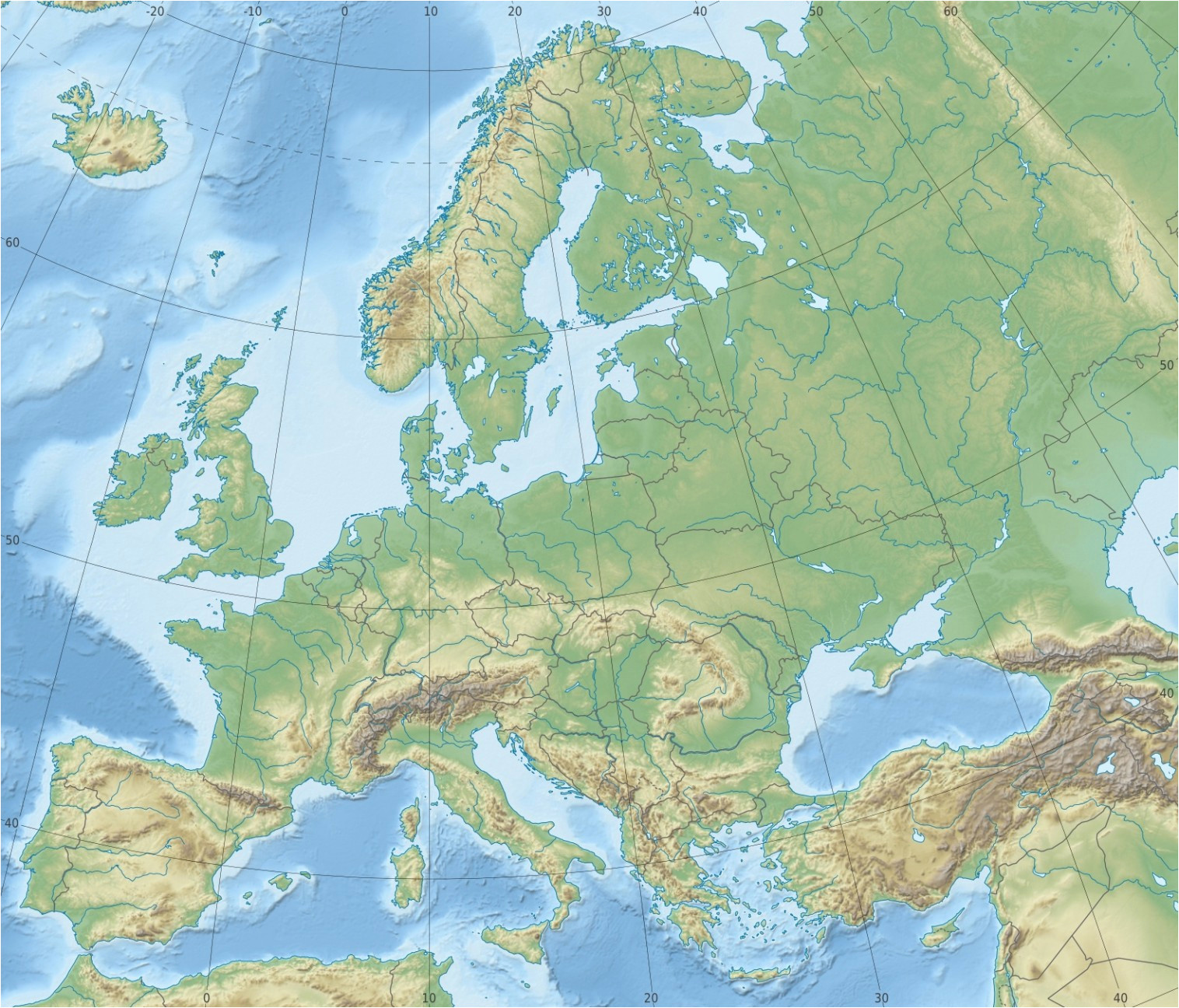 Lightning Europe Map Europe topographic Map Climatejourney org
