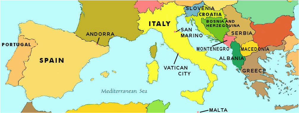 Malta On Map Of Europe southern Europe Map Locating Countries On A Map Me Stuff
