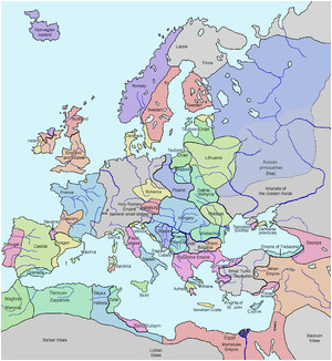 Map Of 11th Century Europe Late Middle Ages Wikipedia