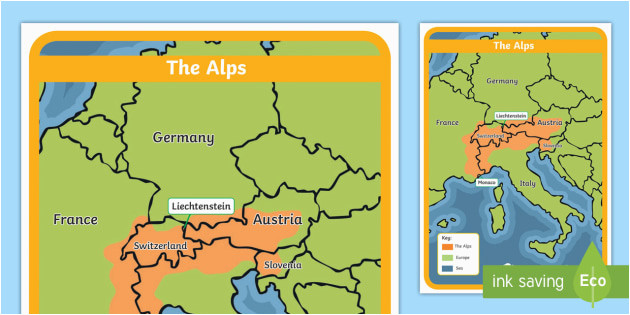 Map Of Europe Alps the Alps Map Habitat Mountain Climate Animals Europe