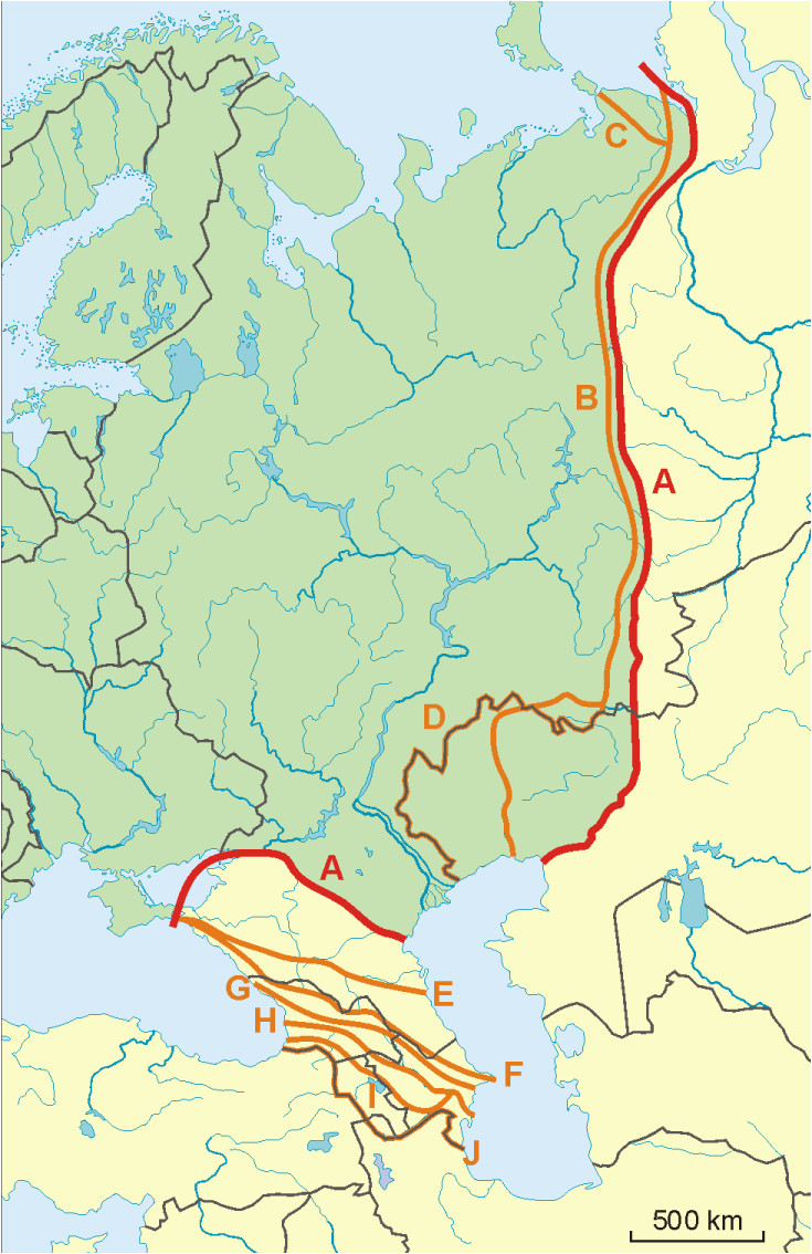 Map Of Europe and asia Border File Possible Definitions Of the Boundary Between Europe and