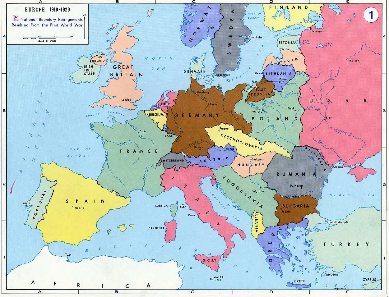 Map Of Europe before World War 2 Pre World War Ii Here are the Boundaries as A Result Of