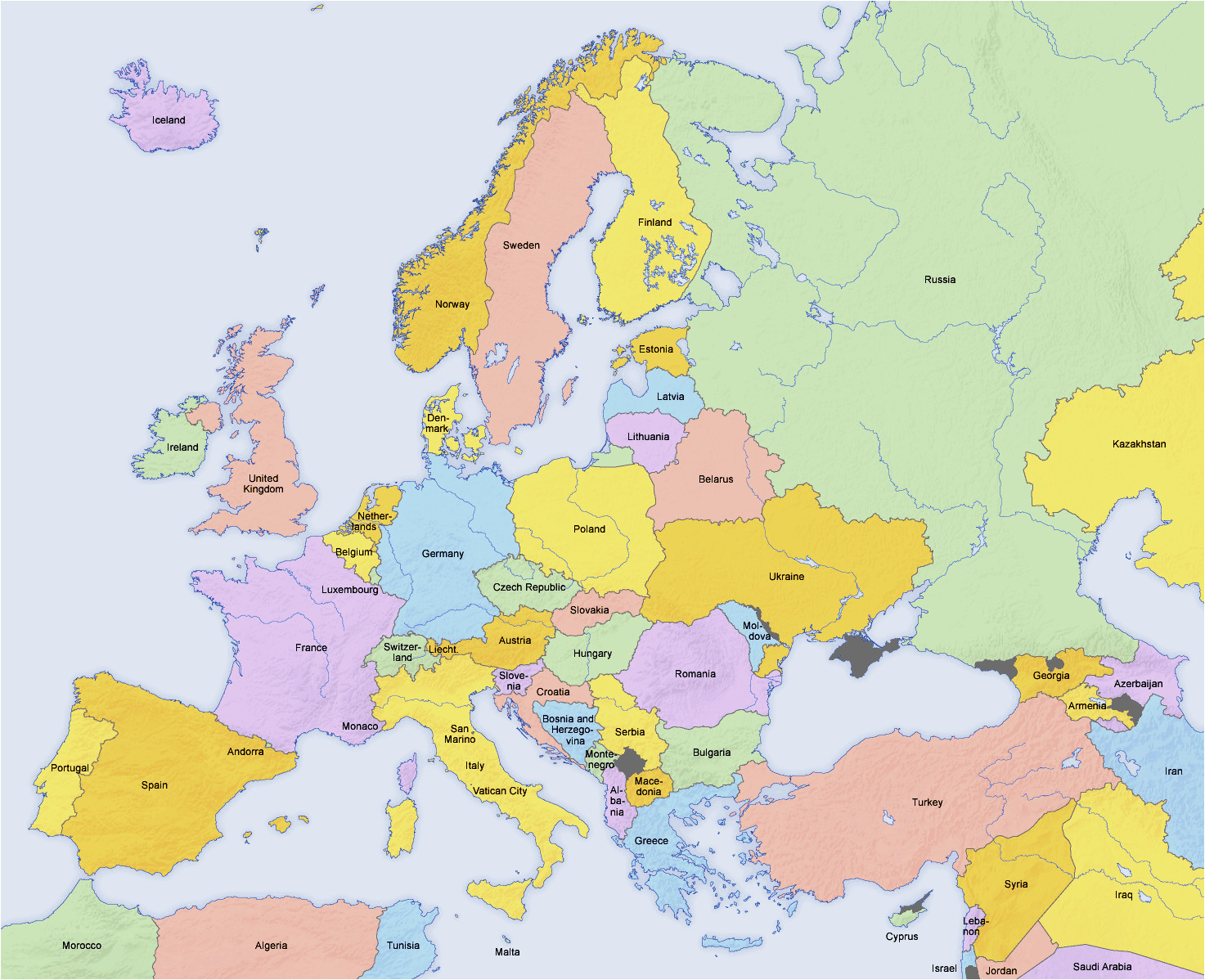 Map Of Europe Countries Only atlas Of Europe Wikimedia Commons