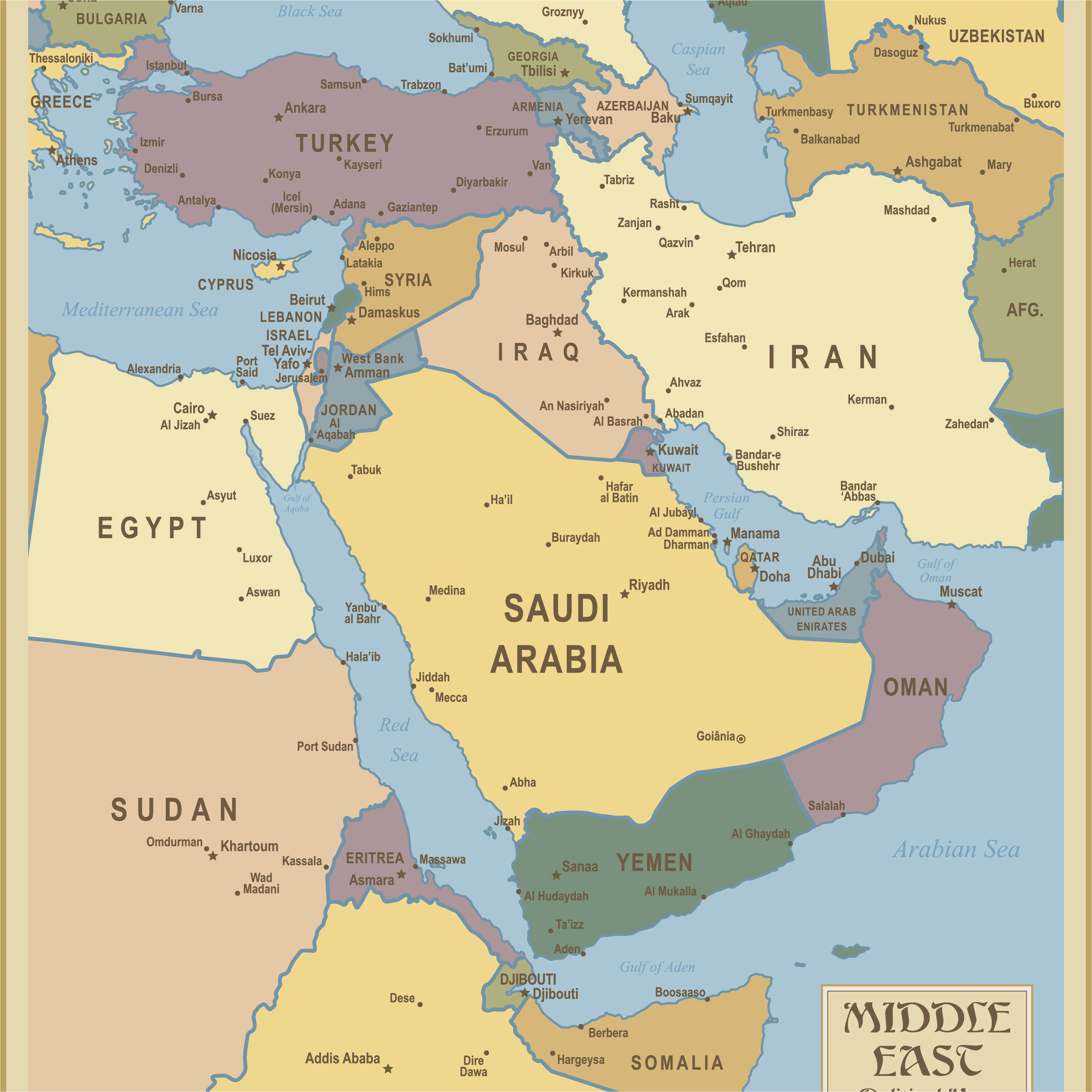 Map Of Europe Middle East and asia Red Sea and southwest asia Maps Middle East Maps