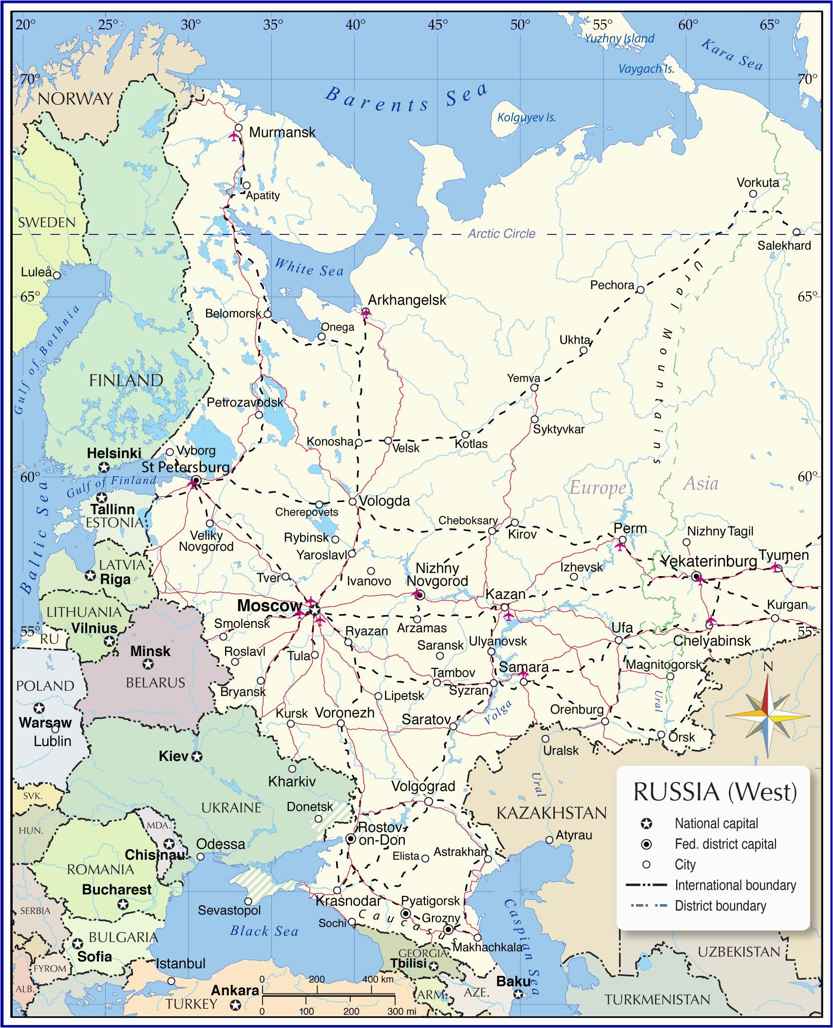 Map Of Russia and Eastern Europe Map Of Russia and Eastern Europe