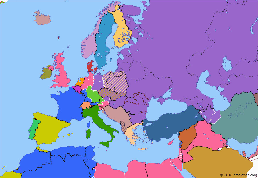 Political Map Of Europe 1939 Political Map Of Europe the Mediterranean On 19 Apr 1946