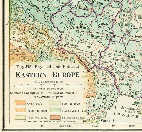 Printable Map Of Eastern Europe 1930 Eastern Europe Map Print Baltic States by