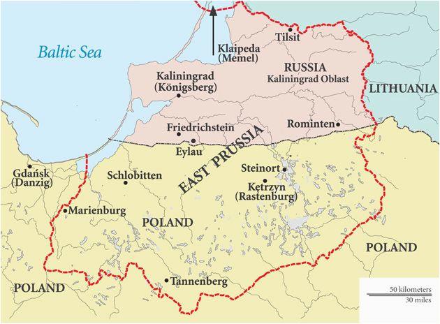 Prussia On Map Of Europe East Prussia Map Szukaj W Google Ancestry Trips Poland
