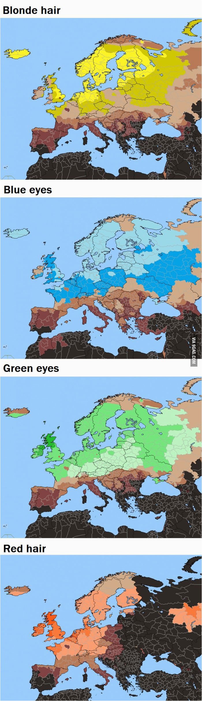 Red Hair Map Of Europe Blonde Hair Red Hair Blue Eyes In Europe Jewelry
