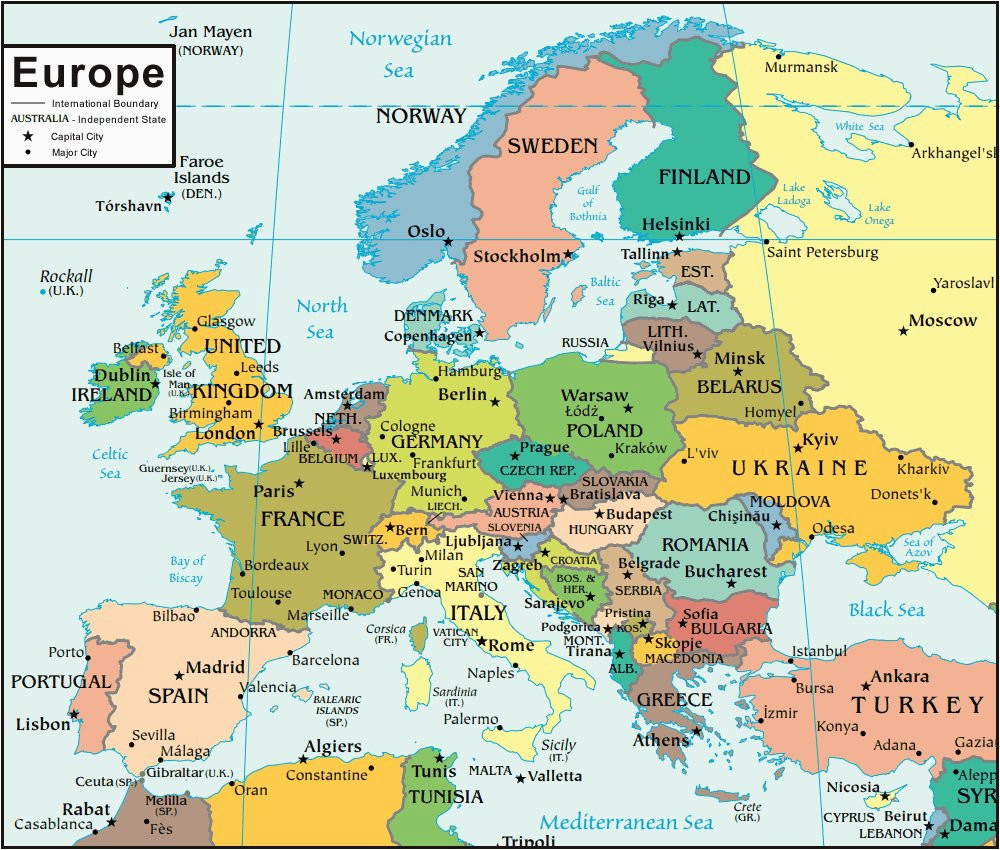 Show Map Of Europe with All Countries 36 Intelligible Blank Map Of Europe and Mediterranean