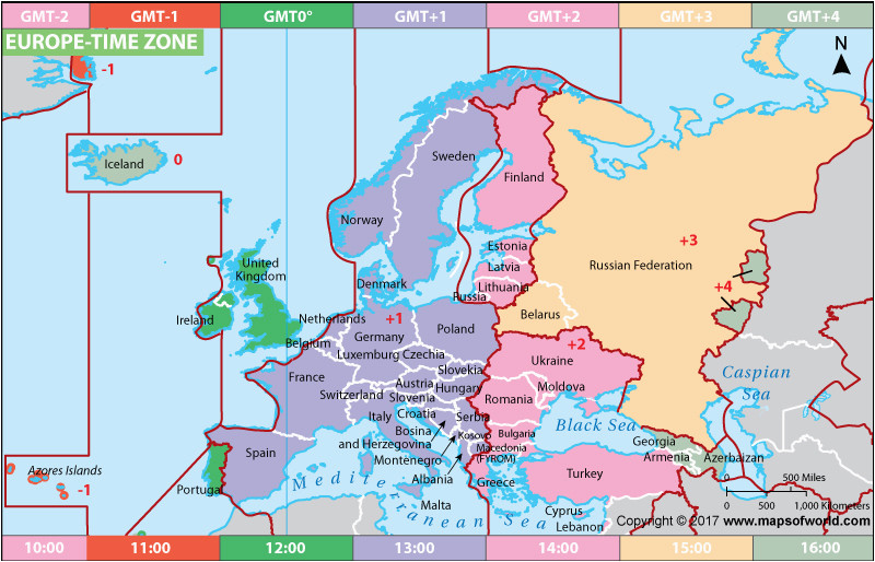 Time Zone Map Of Europe Map Of Germany Time Zones Download them and Print