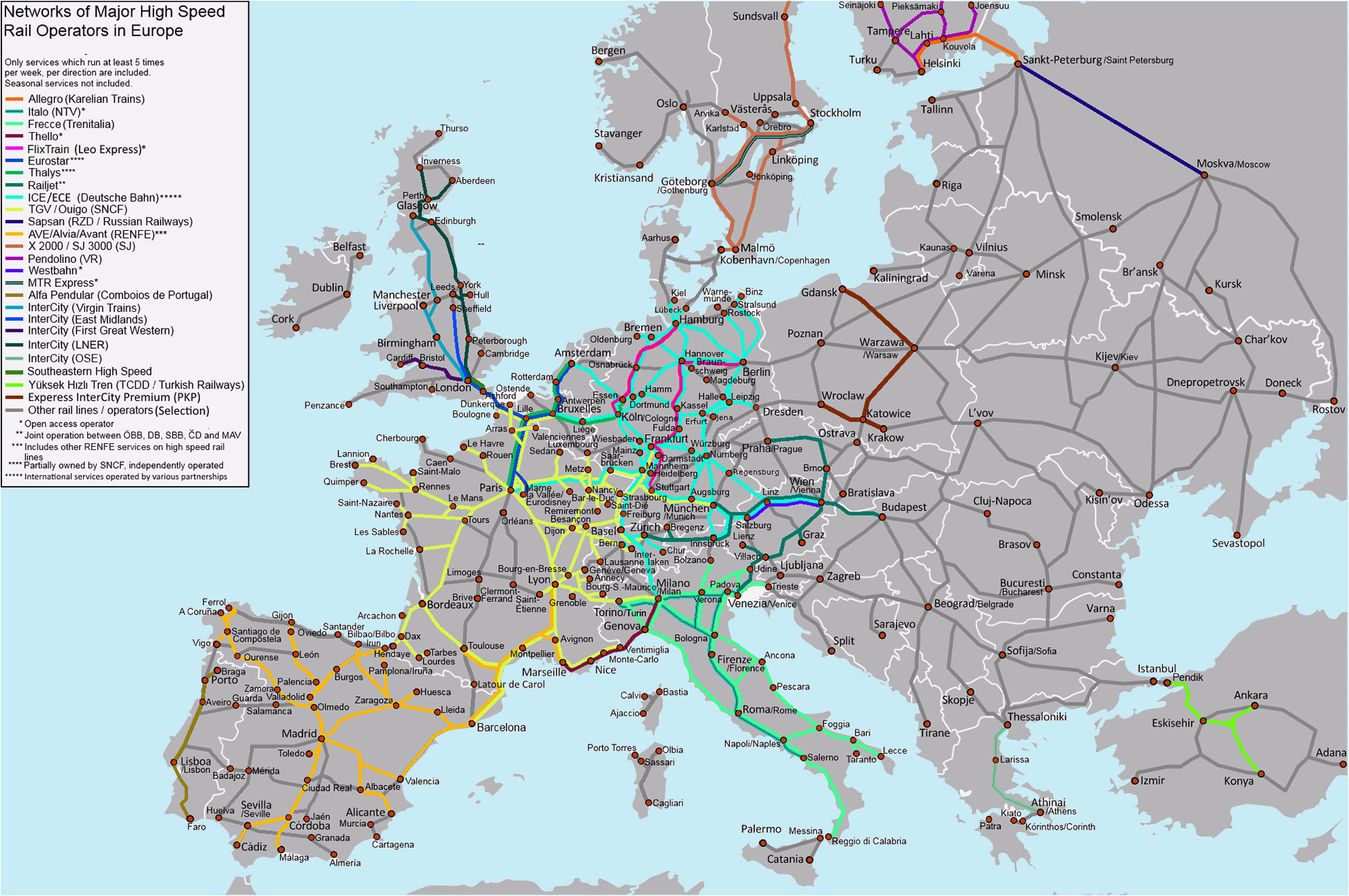 Train Map Eastern Europe Map Of Europe Europe Map Huge Repository Of European