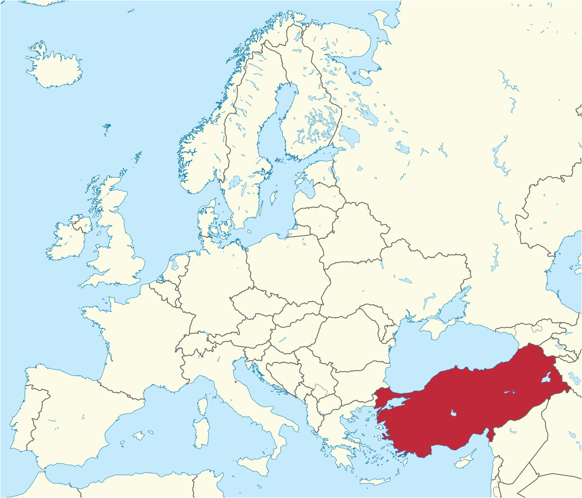 Turkey On A Map Of Europe Turkey Map Edirne