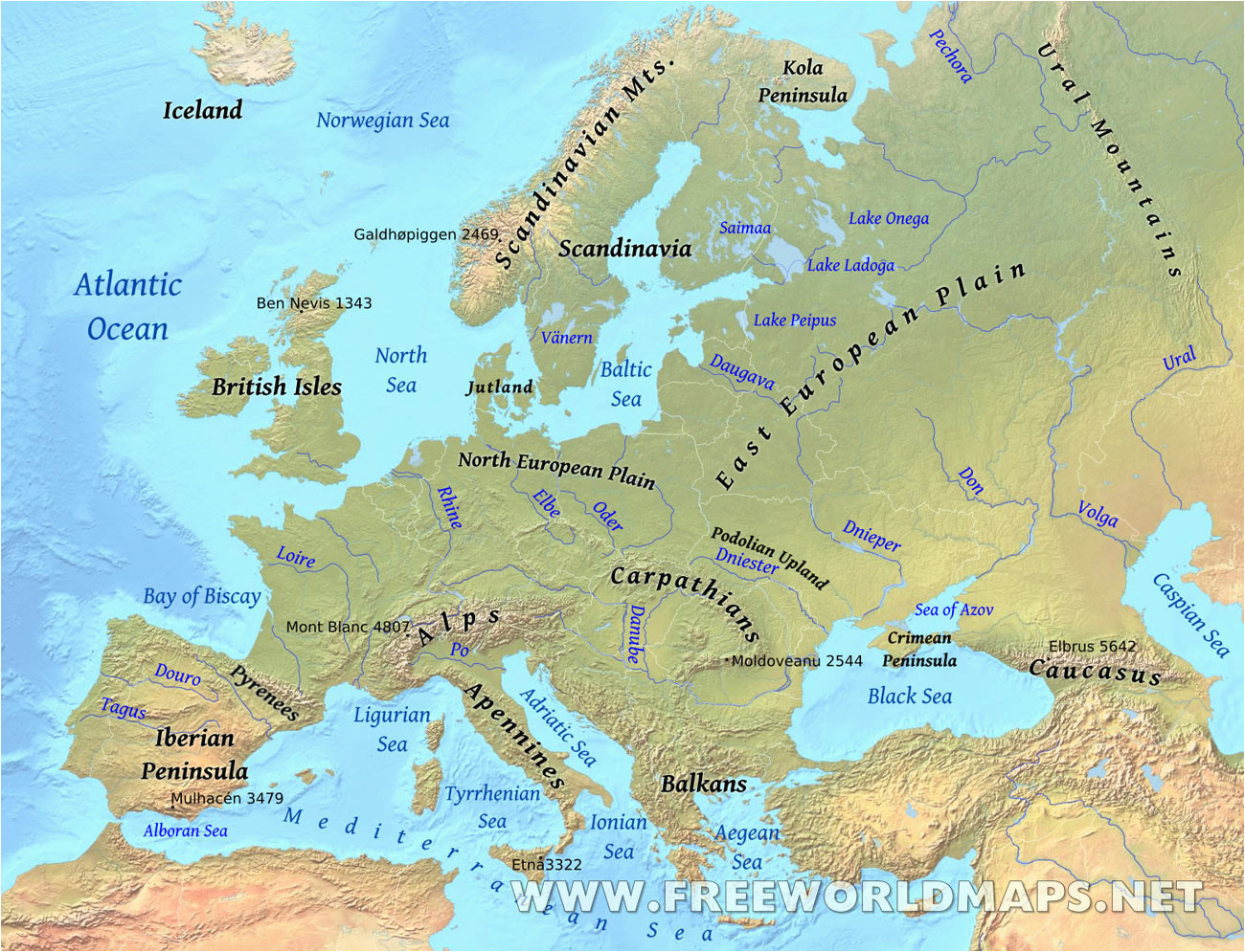 Western Europe Physical Features Map 36 Intelligible Blank Map Of Europe and Mediterranean