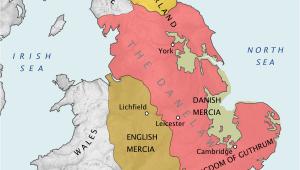 12th Century England Map Danelaw Wikipedia
