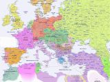 17th Century Map Of Europe Historical Map Of Europe In 1900 Genealogy Map