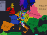 1910 Map Of Europe Europe In 1618 Beginning Of the 30 Years War Maps
