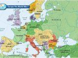 1918 Map Of Europe Europe Pre World War I Bloodline Of Kings World War I