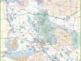 A Map Of Arizona Cities Large Detailed Map Of Arizona with Cities and towns
