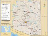 A Map Of Arizona Cities Reference Maps Of Arizona Usa Nations