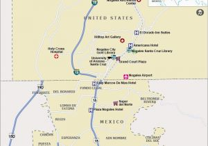 A Map Of Arizona State Map Showing the tourist Places Hotels Airports Shopping Malls In