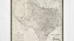 A Map Of Texas State Map Of Texas Texas Canvas Map Texas State Map Antique Texas Map