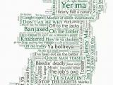 A4 Map Of Ireland Map Of Irish Sayings by Susan Brambell Gah I Say Manky