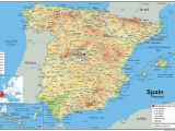 Aa Road Map Spain Spain Physical Map Paper Laminated A1 Size 59 4 X 84 1 Cm