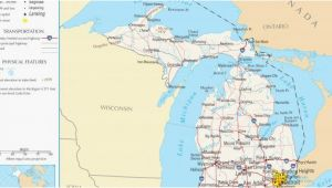 Ada Michigan Map Michigan Elevation Map Maps Directions