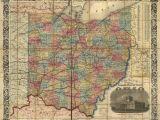 Adena Ohio Map Railroad Rail Train Historic Map Ohio 1854 Products Pinterest