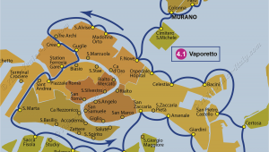 Airport In Venice Italy Map Transport Vaporetto Waterbus Bus Lines Maps Venice Italy