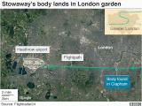 Airports In London England Map Kenya Flight Stowaway Body Found In Clapham Garden Bbc News