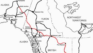Alaska Canada Highway Map Alaska Highway Wikipedia Wolna Encyklopedia