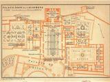 Alhambra Spain Map 1906 the Alhambra Floor Plan Moorish islamic Architecture Granada