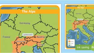 Alps On Europe Map the Alps Map Habitat Mountain Climate Animals Europe