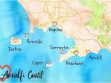 Amalfi Coast Map Of Italy Italy Weather Visiting Italy In 2019 Italy Vacation Italy