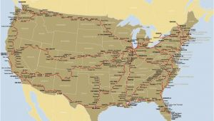 Amtrak Canada Map Map Of the Amtrak Rail Network California Zephyr Train
