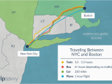 Amtrak New England Map How to Travel Between New York City and Boston