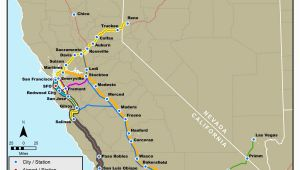 Amtrak Stations In California Map California Amtrak Route Map Www Bilderbeste Com