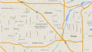 Anaheim California On A Map Maps Of Disneyland Resort In Anaheim California