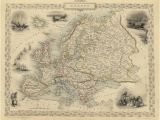 Ancient Maps Of Europe Vintage Map Europe 1851 Products Antique Maps Map