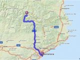 Andorra Spain Map Driving Directions From Barcelona Spain to andorra
