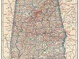Antique Map Of Alabama 1928 Antique Alabama State Map original Vintage Map Of