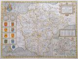 Antique Maps Of Ireland for Sale John Speed Devonshire original Antique Map Dated 1676