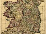 Antique Maps Of Ireland Hd Vintage Ireland Map Oil Painting Print On Canvas Retro