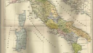 Antique Maps Of Italy 1887 Italien Zur Zeit Kaiser Augustus Alte Landkarte Antique Map